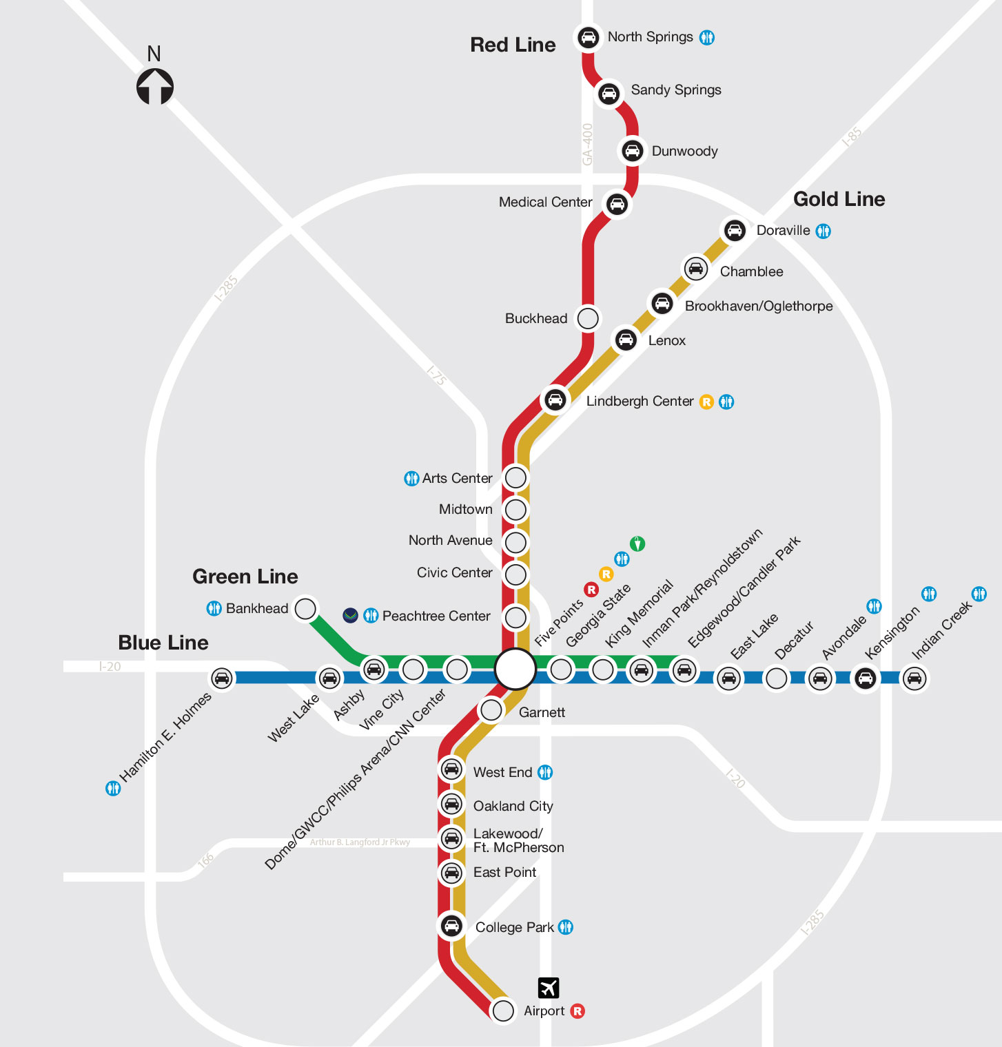 train stations map. marta