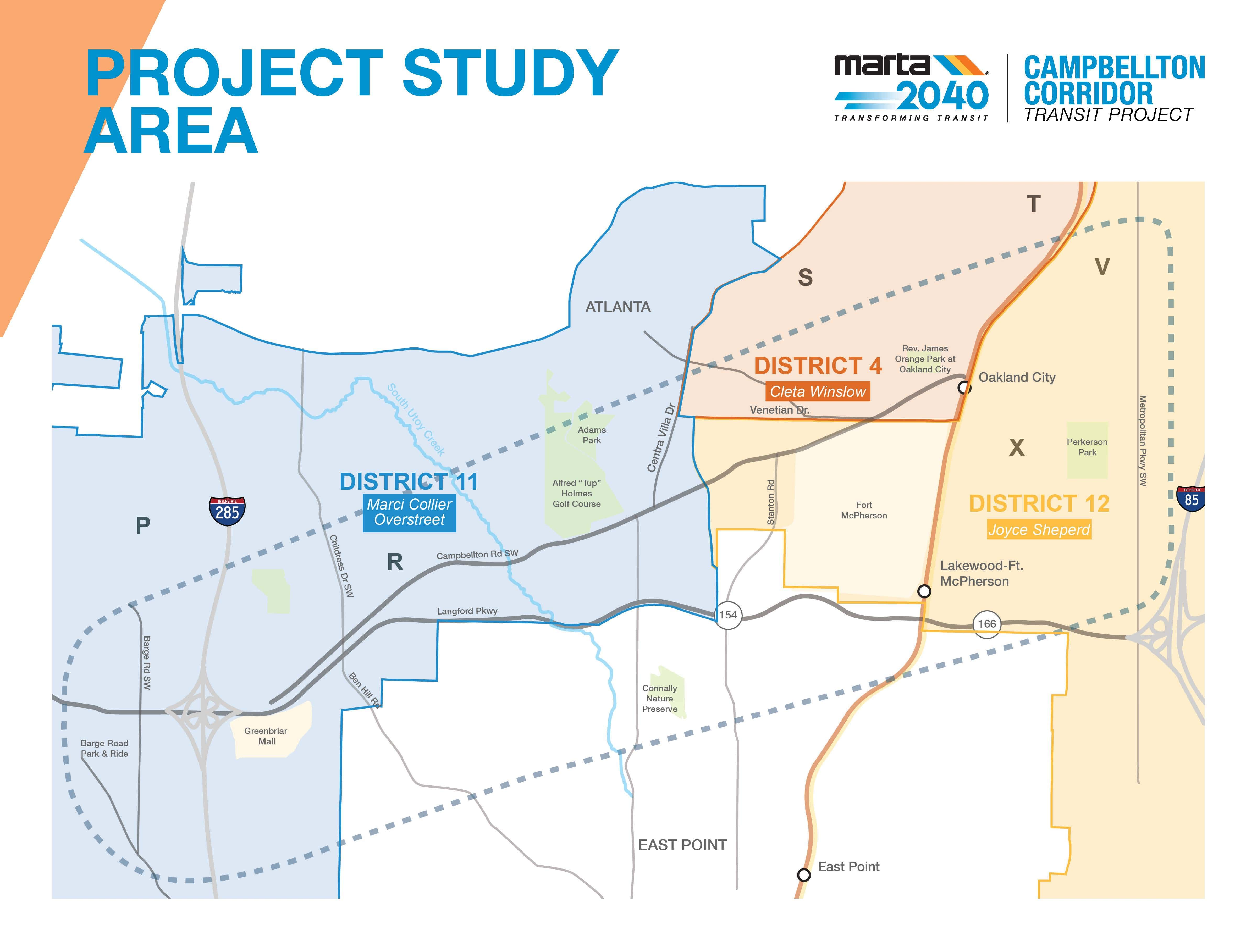 Campbellton Corridor Map Project Study Area- Minimized