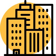 City skyline icon