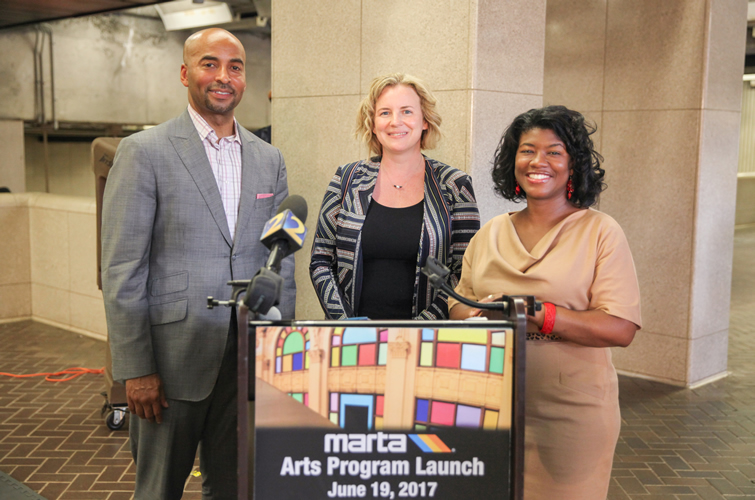 (pictured L to R) CEO/GM Keith Parker, Arts Administrator Katherine Dirga, Chief of Staff Rukiya Thomas